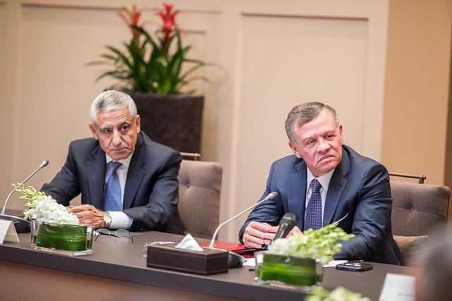 جلالة الملك عبدالله الثاني يلتقي رئيس وأعضاء المجلس القضائي
