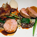 Pork Loin & Deckle, Ramps, Lentils and Rhubarb