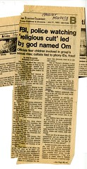 FBI, Police Watching Religious Cult...SF Examiner, July 31 1983, 1 of 2
