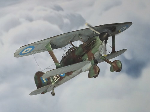 """1:72 Gloster Glaive Mk. I, """"Δ 183"""" of the Hellenic Air Force's 22 Mira Dioxeos, Ioannina (Epirus region), March 1941 (Whif/Kitbashing)"""