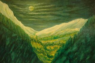 3.- Nature sous clair de lune