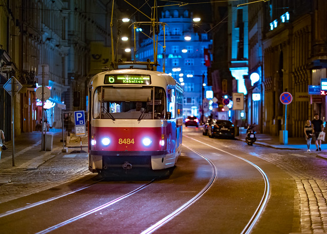Tram Near Wenceslas Square