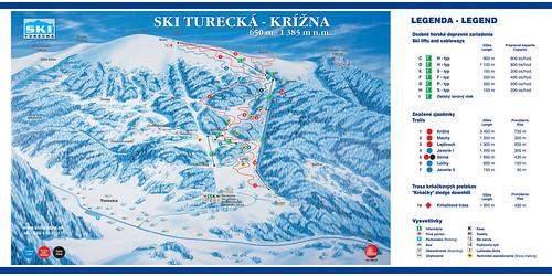 Turecká - Krížna - mapa sjezdovek