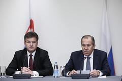 С.Лавров и М.Лайчак   Sergey Lavrov & Miroslav Lajcak