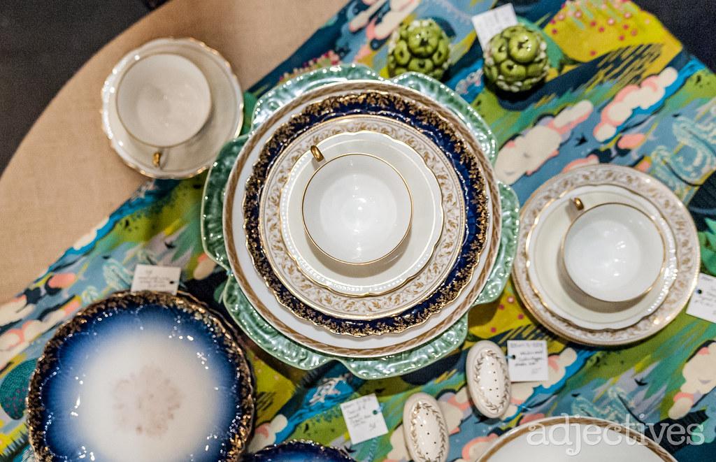 Vintage Dishes by Blue Bird Mercantile in Winter Garden.