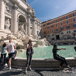 Crowds at Trevi Fountain
