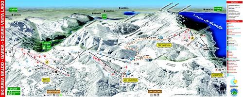 Brentonico - mapa sjezdovek