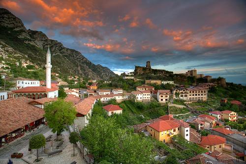 albania albanie albanien balkan kruje shqipëria spring sunset