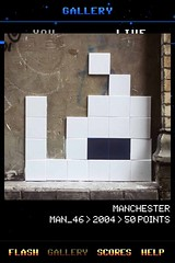 MAN_46 , Invader, Flash Invaders, street art Manchester