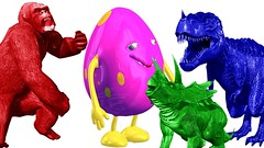 Learning Color Animals Sounds For Children | Dinosaur For Surprise Eggs | Learn Animals Names