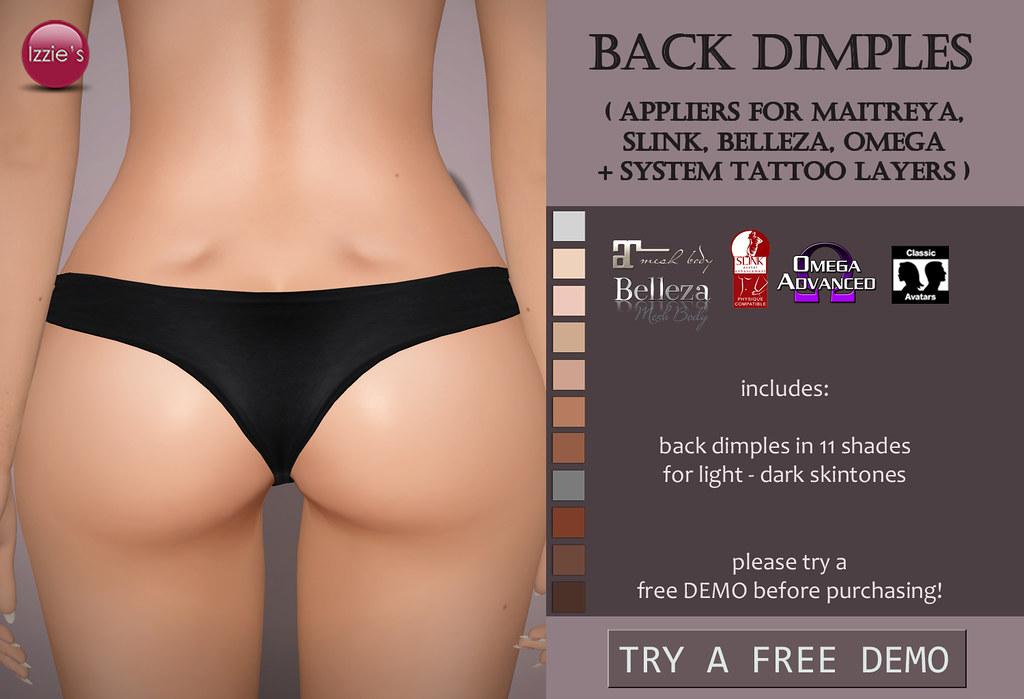 Back Dimples (for FLF) - SecondLifeHub.com