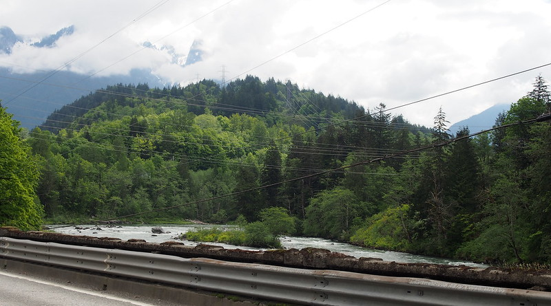 Mountains Over South Fork Skykomish River