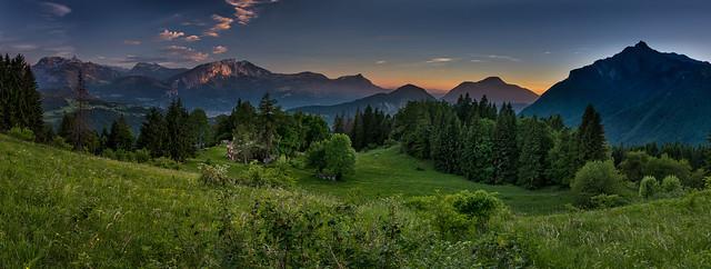Coucher de soleil depuis, Nikon D810, AF-S Zoom-Nikkor 14-24mm f/2.8G ED