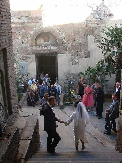 wedding at Anchiskhati Basilica