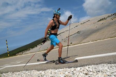 Výborný výkon - lyžař Manificat vystoupal 3x na Mont-Ventoux