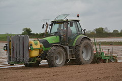 Deutz Fahr Agrotron 150.7 Tractor with a Samco System 4 Row Maize Planter