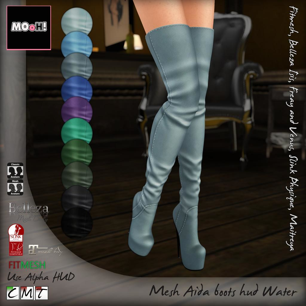 Aida boots water hud - SecondLifeHub.com