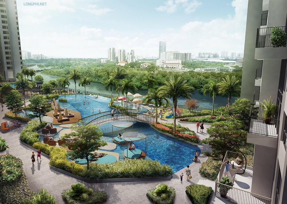 Phối cảnh hồ bơi dự án The View quận 7.