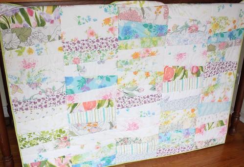 Modern Vintage Sheet Quilt