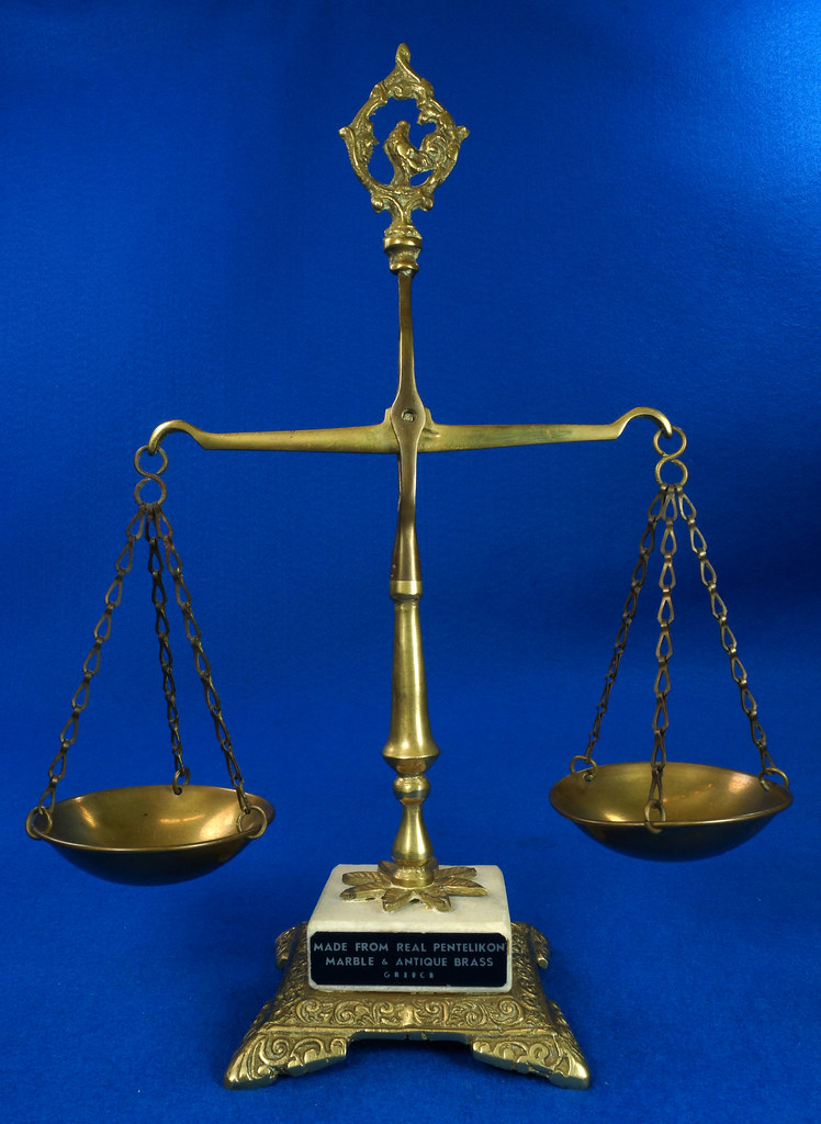 Sold Vintage Scales Of Justice Balance Scale Made Of