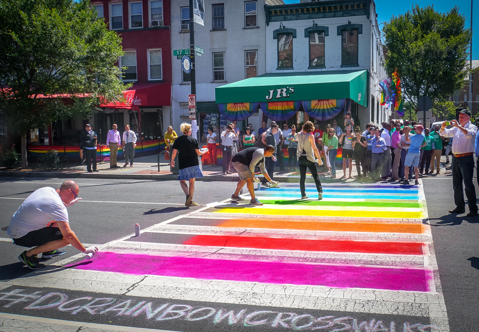 Photo Friday: Where crosswalks are inclusive, too. Washington, DC USA