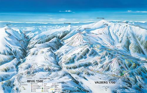 Valberg - mapa sjezdovek