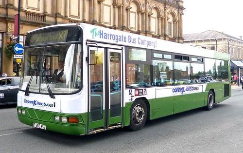 T563 BSS 'Harrogate Coach Travel'  Scania L94UB / Wright Axcess Floline on 'Dennis Basford's railsroadsrunways.blogspot.co.uk
