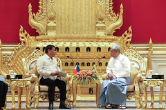 President Duterte Meets Myanmar President U Htin Kiaw, Minister For Foreign Affairs Aung San Suu Kyi, Commander-in-Chief Min Aung Hlaing and Myanmar-based Filipino Companies