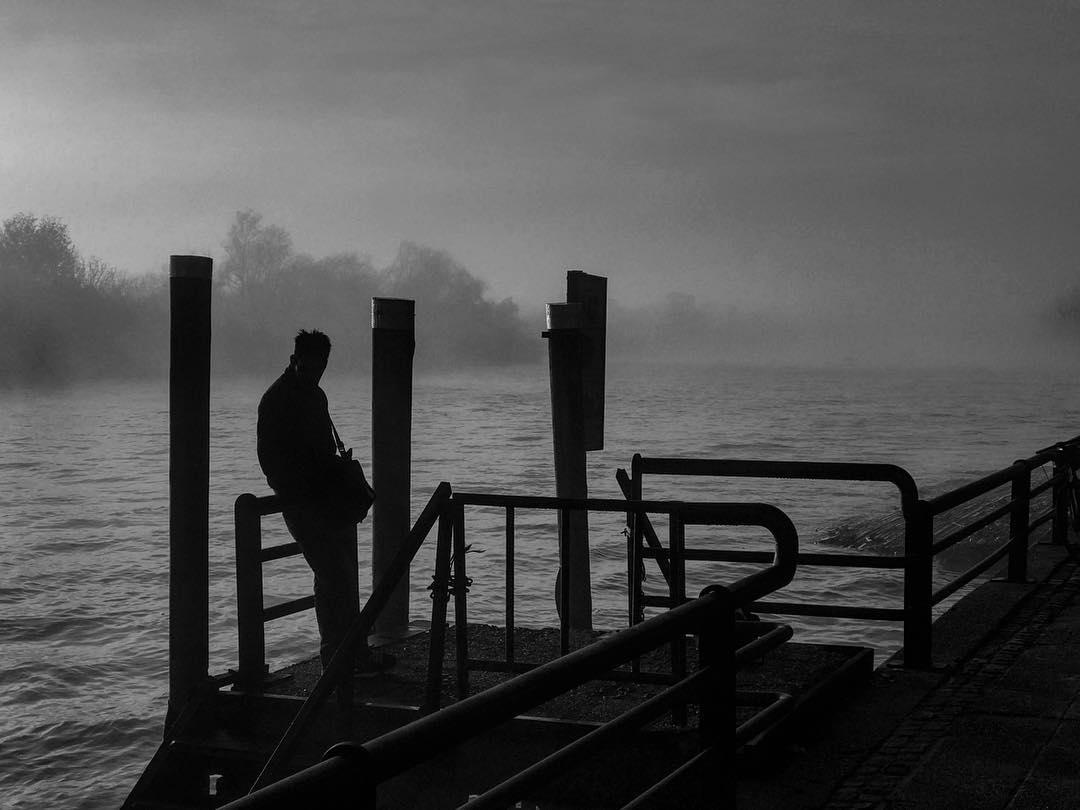 Esperando el ferry