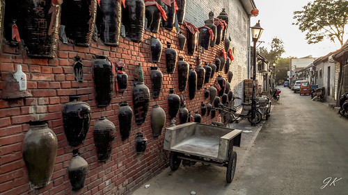 china beijing trip explore travel street alley sunset lantern lamp hutong masonry wall outdoors city cityllife siheyuan traditional courtyard narrow residence building house
