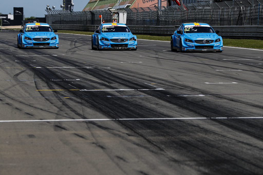 MAC3 qualifying. 63 CATSBURG Nicky (ned), Volvo S60 Polestar team Polestar Cyan Racing, 61 GIROLAMI Nestor (arg), Volvo S60 Polestar team Polestar Cyan Racing, 62 BJORK Thed (swe), Volvo S60 Polestar team Polestar Cyan Racing, action during the 2017 FIA WTCC World Touring Car Race of Nurburgring, Germany from May 26 to 28 - Photo Florent Gooden / DPPI