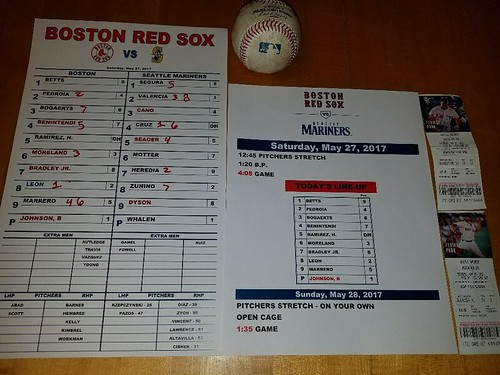 Ms - Red Sox May 27, 2017