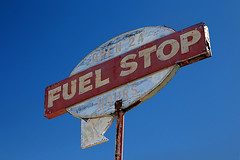 Fuel Stop, At Club Ed, in the Mojave desert, CA