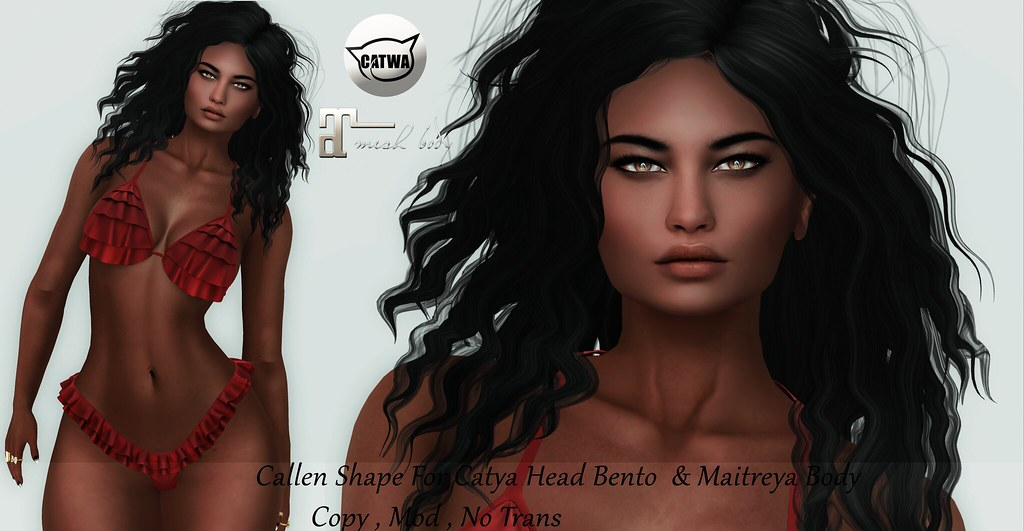 New Callen Shape For Catya Head Bento & Maitreya Body - SecondLifeHub.com