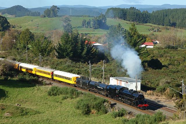 JA 1275 between working a memorial special from Glenbrook to Tangiwai passing through Waimiha