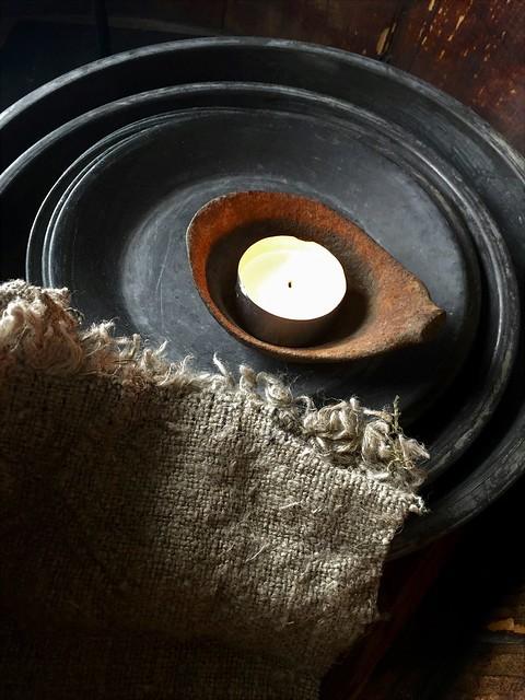Schalen linnen doek