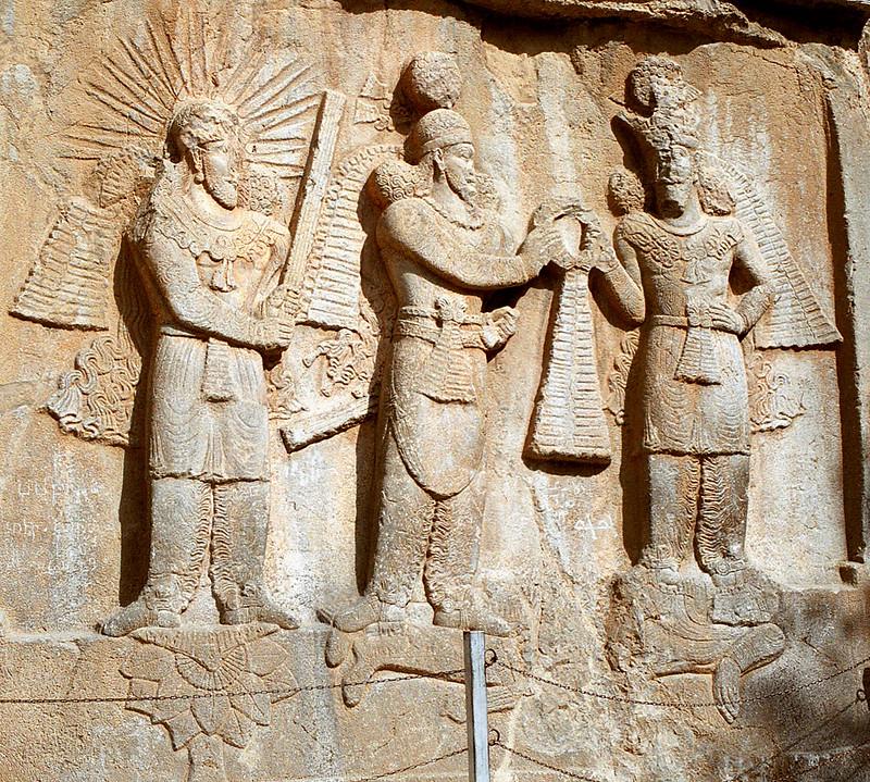 Mithra, Shapur II, Ahura Mazda and dead Roman emperor Julian