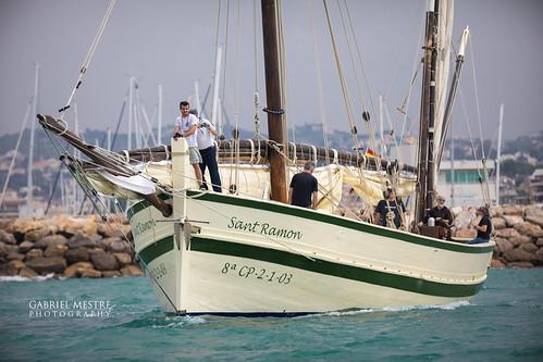 Hissant veles a la bocana: el Sant Ramon