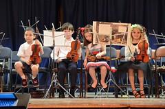 Violinists On Stage