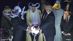 Put on your x-ray specs. Bow to Cthulhu! . #trump #trumpinsaudia #trumporb  #cthulhu #lizardpeople