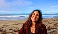 Sun Marian Lundell at beach house
