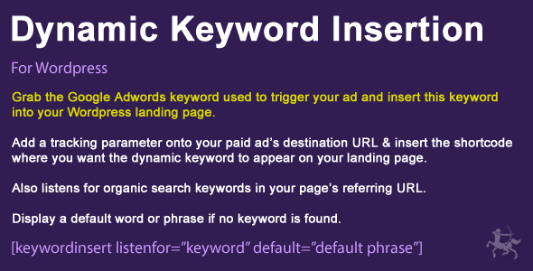 Wordpress Dynamic Keyword Insertion v5.1