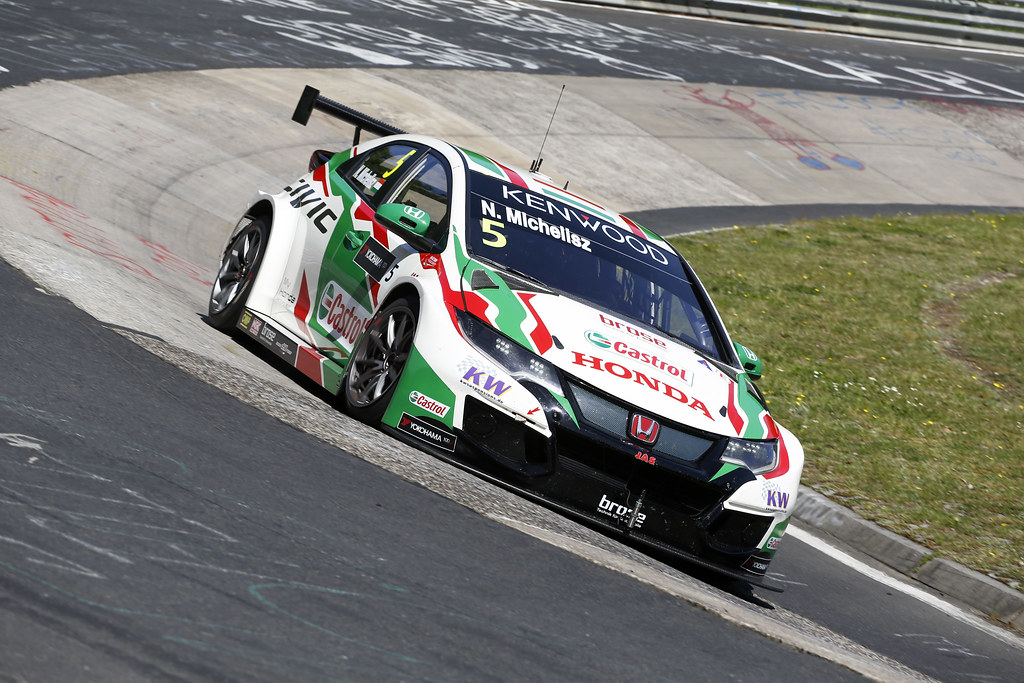 05 MICHELISZ Norbert (hun), Honda Civic team Castrol Honda WTC, action during the 2017 FIA WTCC World Touring Car Race of Nurburgring, Germany from May 26 to 28 - Photo Clement Marin / DPPI