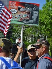 "Anti Islam sign about Europe          displayed by a supporter of the ""Stop Sharia Law"" rally in Denver."