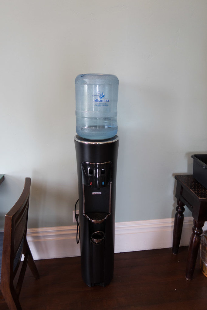 Water cooler in lobby