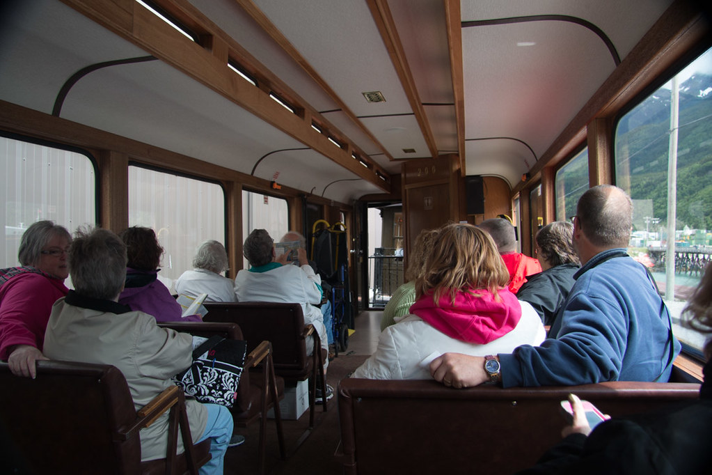 Interior of White Pass Train Car