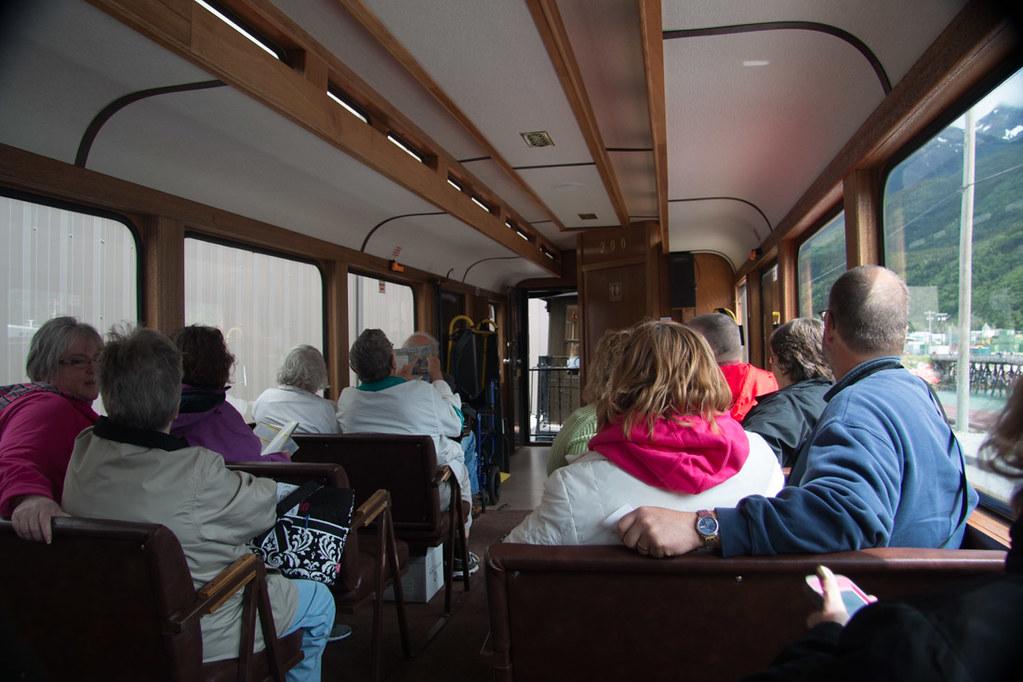 Interior of White Pass Train Car