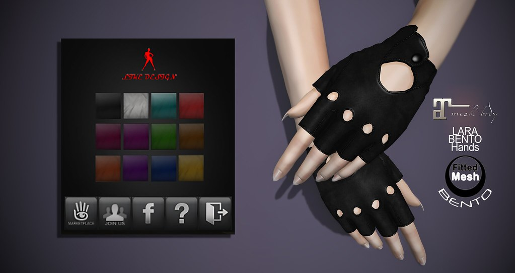 .: LIKE DESIGN :. Amani Bento Maitreya Gloves - SecondLifeHub.com
