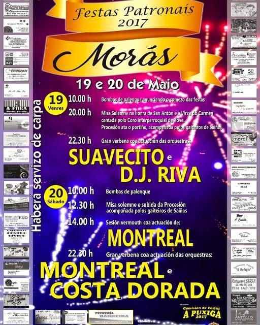 Xove 2017 - Festas patronais en Morás - cartel