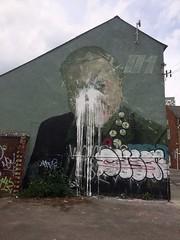 Rocket01 David Attenborough Mural Vandalised, Sheffield 2017